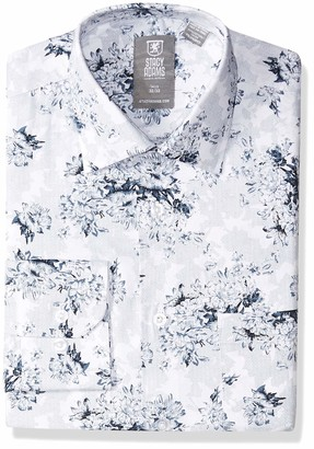 Stacy Adams Men's Big and Tall Flowers Bundle Print Modern Fit Dress Shirt