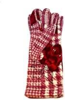 L'Imagine Houndstooth Rose Gloves