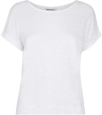 Whistles Relaxed Linen TShirt