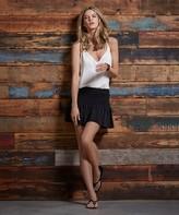 Vix Paula Hermanny Solid Black And Off White Short Dress