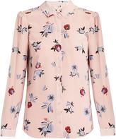 Rebecca Taylor Bellflower-print silk shirt