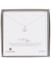 Dogeared Sterling Silver Bridal Flower Girl Necklace