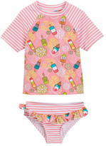 Floatimini Popsicle Rash Guard Set with Ruffle Bottom (Toddler & Little Girls)