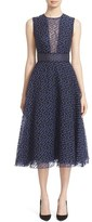 Lela Rose Women's Dotted Organza Fit & Flare Midi Dress