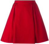 RED Valentino gathered skirt - women - Cotton/Spandex/Elastane - 42