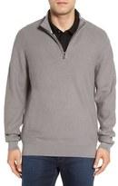 Cutter & Buck 'Benson' Quarter Zip Textured Knit Sweater (Big & Tall)