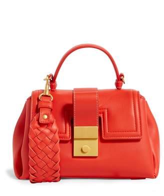 Bottega Veneta Mini Leather Piazza Top Handle Bag