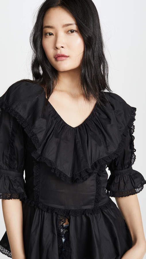 See by Chloe Ruffle Puff Sleeve Blouse