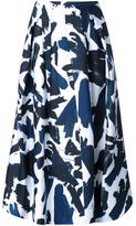 Jil Sander brushes printed skirt
