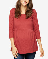 A Pea in the Pod Maternity Jacquard Babydoll Top