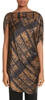 Zero Maria Cornejo Women's Lui Dot Mesh Stretch Silk Charmeuse Tunic