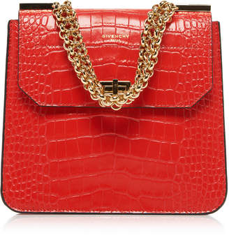 Givenchy Catena Croc-Effect Leather Shoulder Bag