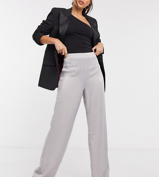 Outrageous Fortune Tall wide pants in metallic