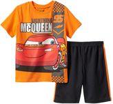 Disney Pixar Cars Lightning McQueen Boys 4-7 Graphic Tee & Shorts Set