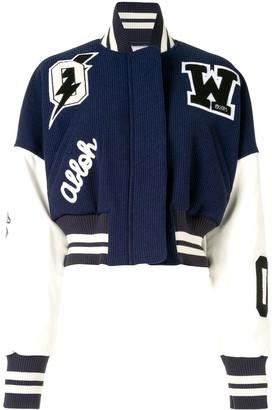 Off-White Logo Patches Varsity Jacket