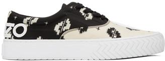 Kenzo Black and Off-White Printed IKAT K-Skate Sneakers