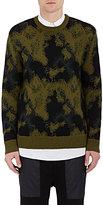 Public School Men's Camouflage Crewneck Sweater-GREEN