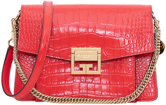 Givenchy Gv3 Small Bag In Crocodile Embossed Leather