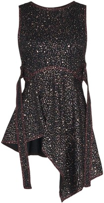 Sies Marjan Sequinned Asymmetric Peplum Top