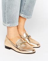 Carvela Loss Gold Leather Loafers