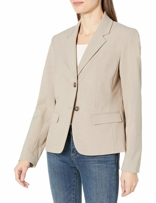Nine West Women's 2 Button Taylor Stretch Jacket with Notch Collar