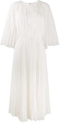 Giambattista Valli Pleated Midi Dress