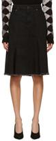 Loewe Black Denim Raw Hem Skirt