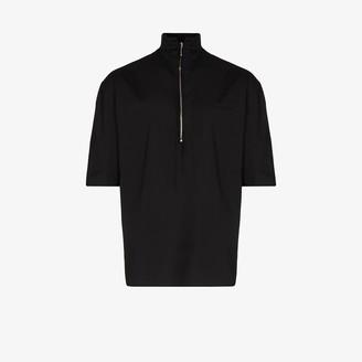 MAISON KITSUNÉ Zip-up cotton top
