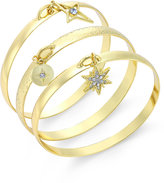 INC International Concepts Gold-Tone 3-Pc. Charm Bangle Bracelet Set, Only at Macy's