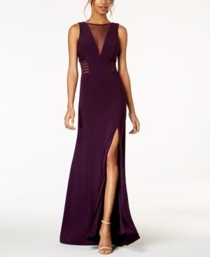 Morgan & Company Juniors' Sleeveless Illusion A-Line Dress