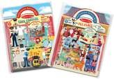 Melissa & Doug Cool Careers & Pet Place Puffy Sticker Activity Book Bundle