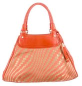 Cole Haan Leather-Trimmed Triangle Tote