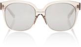 Linda Farrow Truffle Square-Frame Acetate Sunglasses