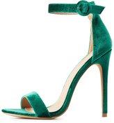 Charlotte Russe Velvet Two-Piece Dress Sandals