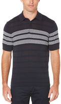 Perry Ellis Short Sleeve Striped Sweater Polo