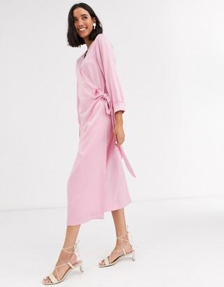 Aeryne Cowry midi wrap dress