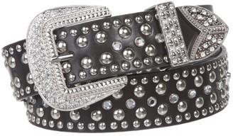Beltiscool Western Rhinestone & Studded Leather Belt