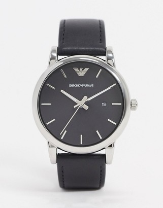 Emporio Armani AR1692 leather strap watch