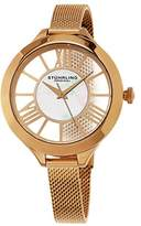 Stuhrling Original Winchester Women's Quartz Watch with Mother Of Pearl Dial Analogue Display and Rose Gold Stainless Steel Bracelet 595.03