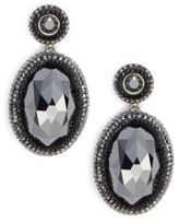 Swarovski Vital Oval Crystal Drop Earrings