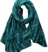 LUQUAN Women Large Pattern Music Notes Long Scarves Shawls