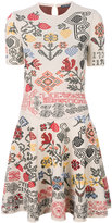 Alexander McQueen geometric floral patterned dress