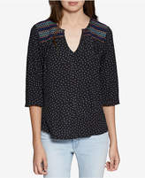 Sanctuary Anabelle Embroidered Polka-Dot Top