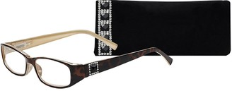 Select A Vision SAV Eyewear (Select-A-Vision) Victoria Klein Crystals Fashion Rectangular Reading Glasses 9092S Demi 1.50