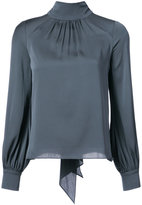 Milly turtle-neck fitted blouse