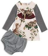 Dolce & Gabbana Baby's Two-Piece Cat-Print Dress & Bloomers Set