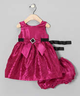 C.I. Castro Fuchsia Rhinestone Dress & Bloomers - Infant