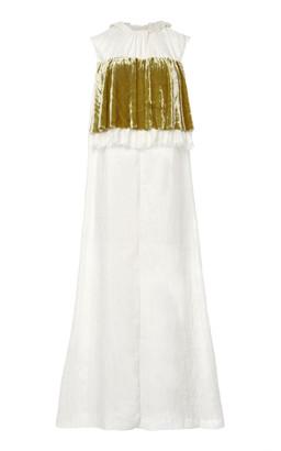 Prada Velvet Bib Silk Dress