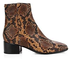 49b0754f9c18a Women's Aslen Snakeskin-Embossed Leather Ankle Boots