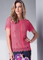 Kaleidoscope Short Sleeved Lace Top